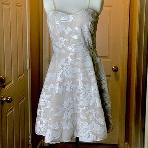 GB_Strapless_Flower Sequins Dress